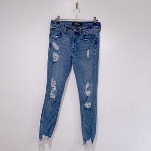 Express Ankle Legging Destroyed Jeans 6R